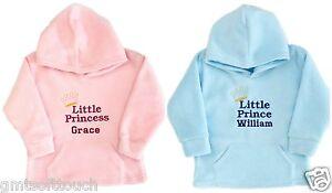 Personalised-Baby-Hoody-Hoodie-Hoodies-Pink-Blue-Baby-Gifts-Embroidered