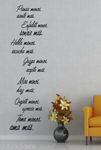 Vinilo decorativo #471# MENOS Y MÁS sticker paredes cocina wall pegatinas