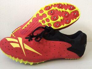 Máquina de recepción Reducción de precios Autorizar  Mens Reebok Running Shoes Spikes Red UK 14 T204 | eBay