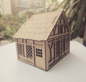 28mm-Fantasy-Tudor-Style-Small-Cottage-2mm-MDF-Laser-Cut-Kit