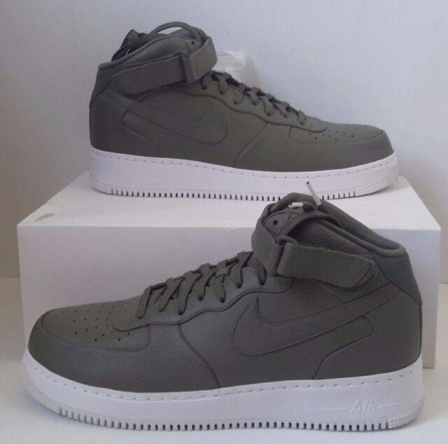 buy popular 92a96 ebec6 Nike NikeLab Air Force 1 Mid Sz 14 Urban Haze Olive Green Grey White  819677-300