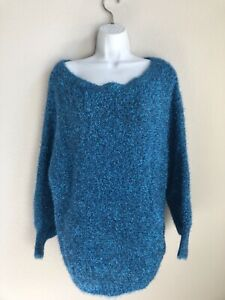 350-Alice-Olivia-by-Stacy-Bendet-Fuzzy-Metallic-Blue-Pullover-Sweater-Peacock