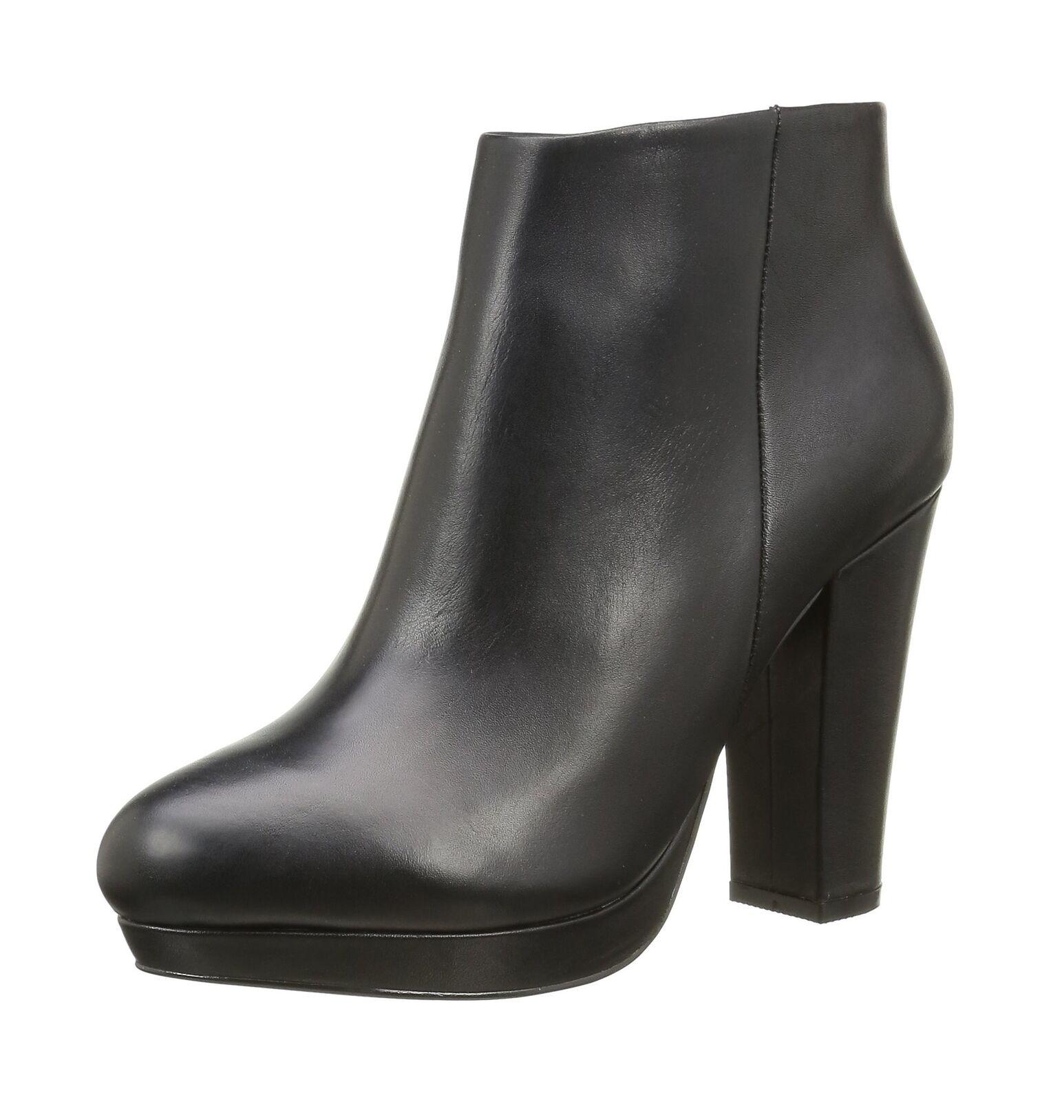 Buffalo para mujer Botas al Tobillo de Cuero de Negro seda de 410-10645 L Negro de (Negro 01) 5.5-6 634429