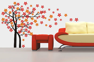 Blowing Tree Removable Wall Art Stickers Kids Nursery Baby Room Vinyl Decals DIY