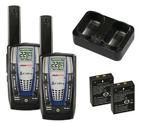 NEW-2-COBRA-CXR875-30-Mile-22-Channel-FRS-GMRS-Walkie-Talkie-2-Way-Radios