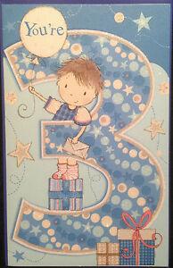 3rd Birthday Card Male Boy Age 3 Happy Birthday Nice Quality