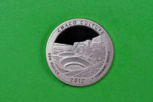 US National Park Quarter 2012-S GEM  Proof  Deep Cameo Chaco Culture c//n clad