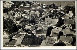 Oberammergau Postkarte ~1930/40 Teilansicht von oben Fliegeraufnahme Luftbild