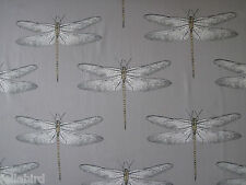 HARLEQUIN CURTAIN FABRIC Demoiselle 3.75 METRES GRAPHITE & ALMOND DRAGONFLY