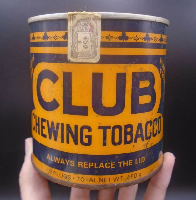 VINTAGE 1970's CLUB CHEWING TOBACCO (450 g) TIN - IMPERIAL TOBACCO COMPANY