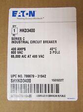 EATON CUTLER HAMMER HKD Circuit Breaker 3 Pole 400 Amp HKD3400