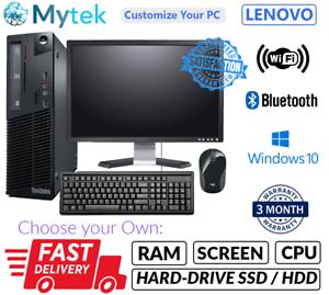 Lenovo-M72e-Pentium-Desktop-SFF-PC-Computadora-LCD-amp-Set-8GB-Windows-10-HDD-o-SSD