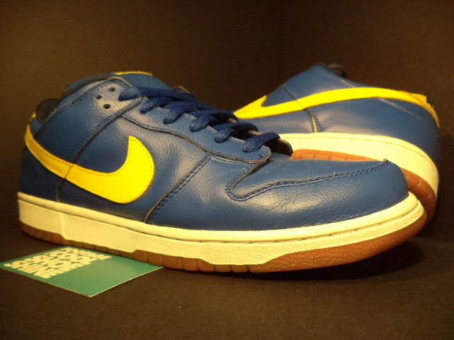 05 Nike BLUE Dunk Low Pro SB BOCA JR ROYAL BLUE Nike LIGHTNING YELLOW WHITE 304292-471 12 d71d9a