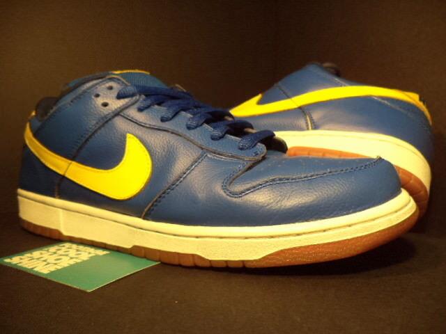 05 Nike Dunk Low Pro SB BOCA JR ROYAL blueE LIGHTNING YELLOW WHITE 304292-471 12