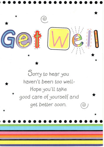 Extra Large Get well Card