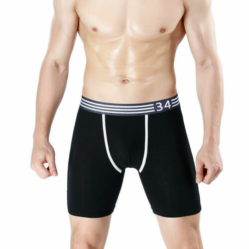 Men Long Leg Underwear Boxer Trunks Shorts Underpants Panties Sports Briefs