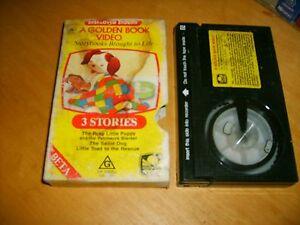 GOLDEN-BOOK-VIDEO-FAIRY-TALE-CLASSICS-1986-RARE-RETRO-Betamax-Tape-Not-Vhs