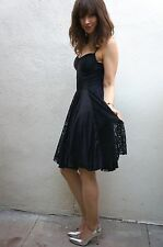 Guess Black Lace Dress Size 8 Corset Full Skirt Formal Casual Sleeveless NWOT