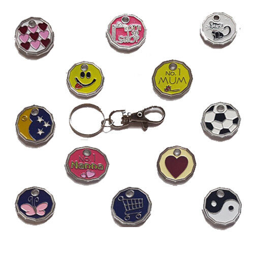 New Shaped Pound Coin Trolley Token Locker Token Red Heart Keyring