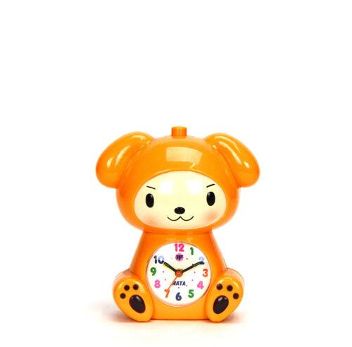 Adorable Baby in Puppy Robe Kids Musical Alarm Clock Children Room Decoration