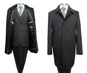 Elegante-Herren-Mantel-Gr-56-Schwarz