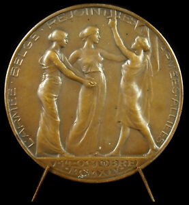 100% Vrai Médaille Belgique 1914 Siège D'anvers Retient 7 Divisions Allemandes Armée Belge Acheter Un En Obtenir Un Gratuitement