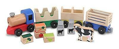 Melissa and Doug * Wooden Animal Farm Train * NEW classic toy