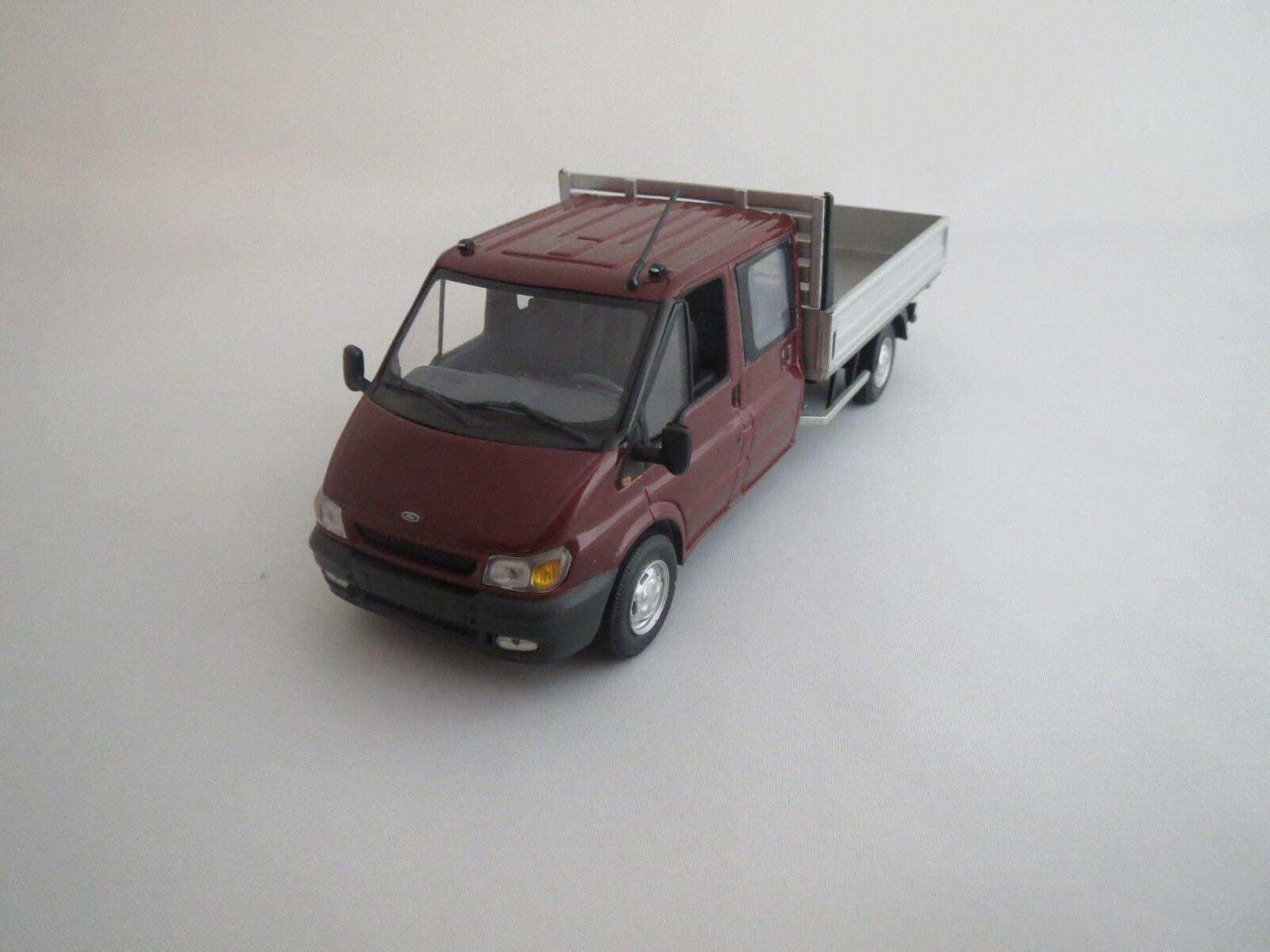 Minichamps Ford Transit Double Cabine Cabine Cabine (salsoruge-Met.) 1 43 neuf dans sa boîte 675085