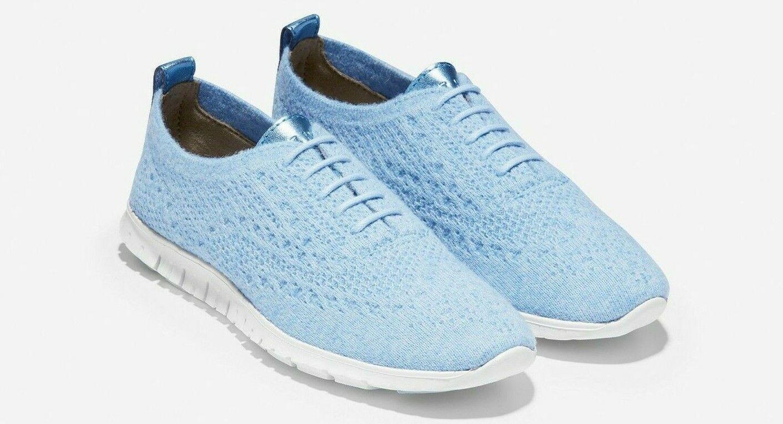 Cole Haan zerogrand stitchlite laine Ox Femmes Bleu Léger Chaussures Chaussures Chaussures  W13199 4e3964