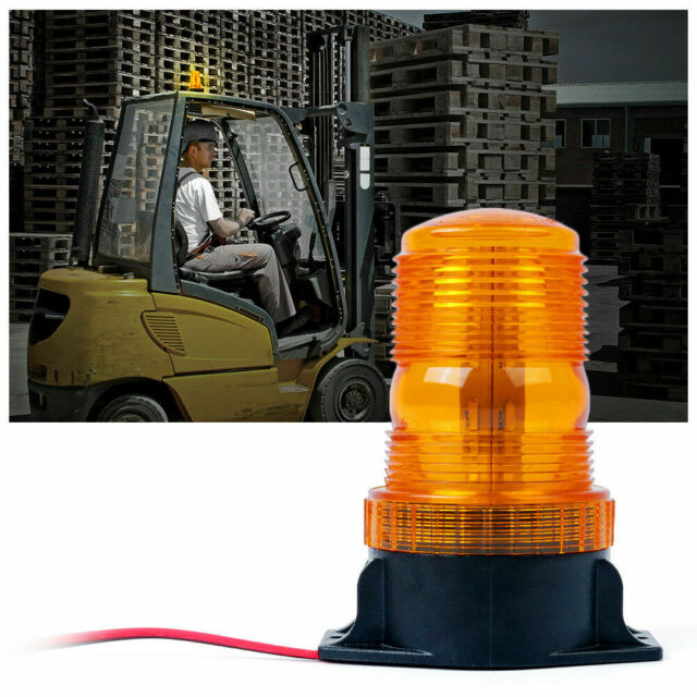 YUK 4pcsSuper Bright Amber 6-LED Car Truck Warning Caution Emergency Construction Waterproof Beacon Flash Caution Strobe Bumper Grill Light Bar 4-pack