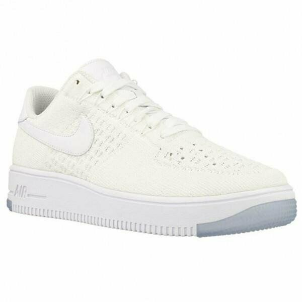 official photos ce02c a56a5 Nike W Af1 Flyknit Low WMNS Air Force 1 White Womens Casual Shoes  820256-101 7.5