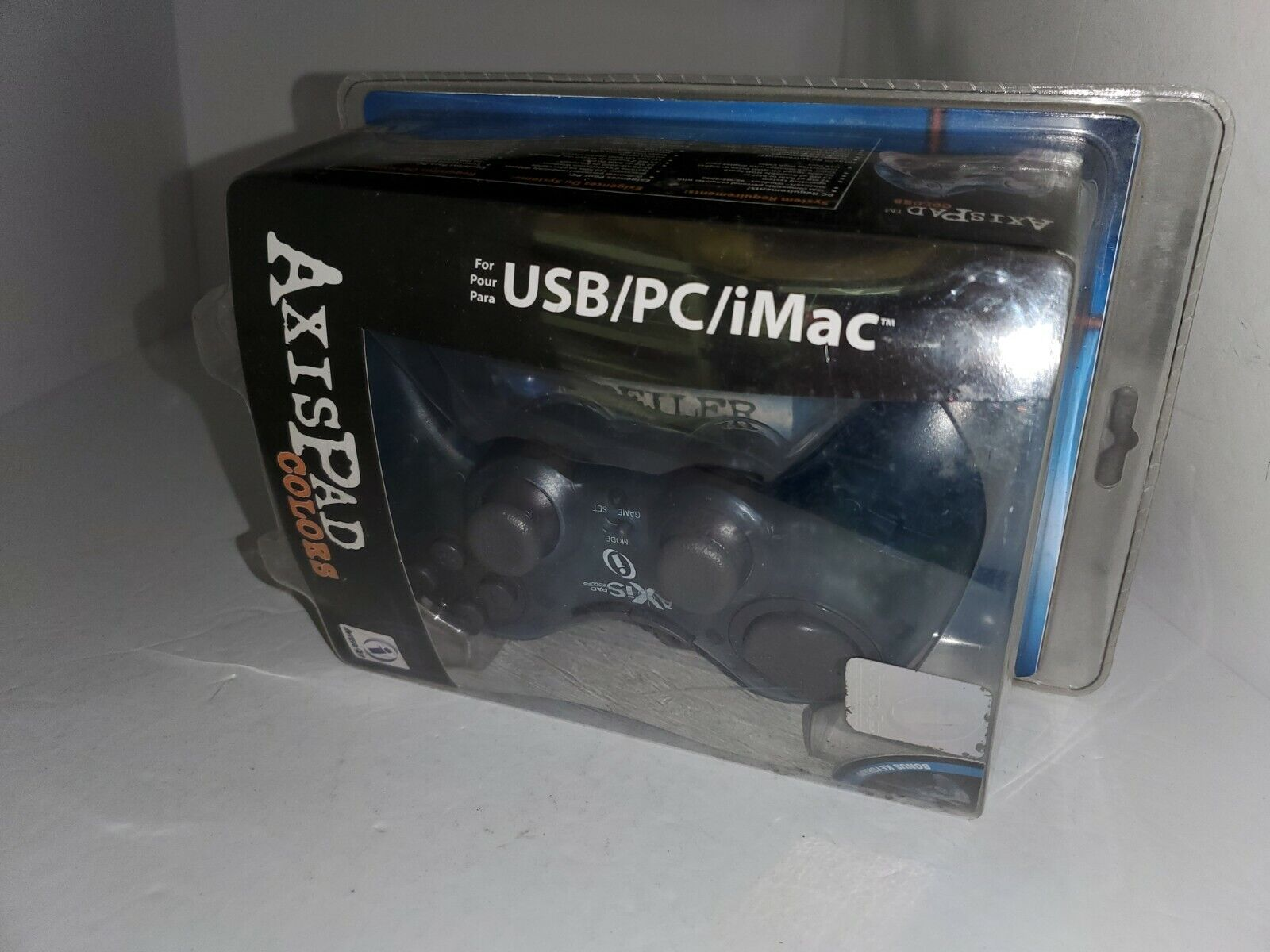 NEW Clear Blue AXIS USB Controller Pad for PC Computer Windows 98/ME/2000 #Q3