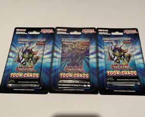 SEALED YuGiOh Toon Chaos 1st Edition Booster Blister Pack
