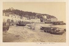 Nice les Spélugues Photographe primitif France Vintage albumine vers 1865
