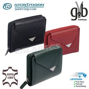 Damenboerse-Geldboerse-Portemonnaie-Lederboerse-Geldbeutel-hochwertiges-Leder