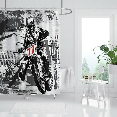 Window Treatments & Hardware 3d Cool Motorcycle 8 Shower Curtain Waterproof Fiber Bathroom Windows Toilet For Fast Shipping Home & Garden