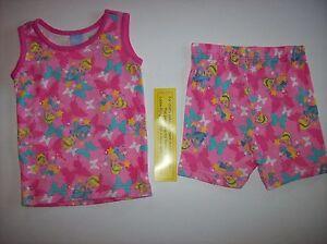 Disney-Princess-Girls-Pajamas-Sleepwear-2pc-12-Mos-Pink-Cinderella-Butterfly-NWT
