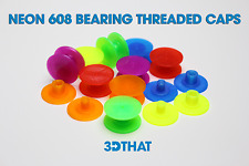 Neon Fidget Spinner Threaded CAPS 608 Bearing DIY Choose Your Color!