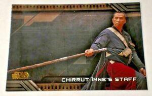 2018 Star Wars Galactic Files Weapons #W-6 Chirrut Imwe/'s Staff