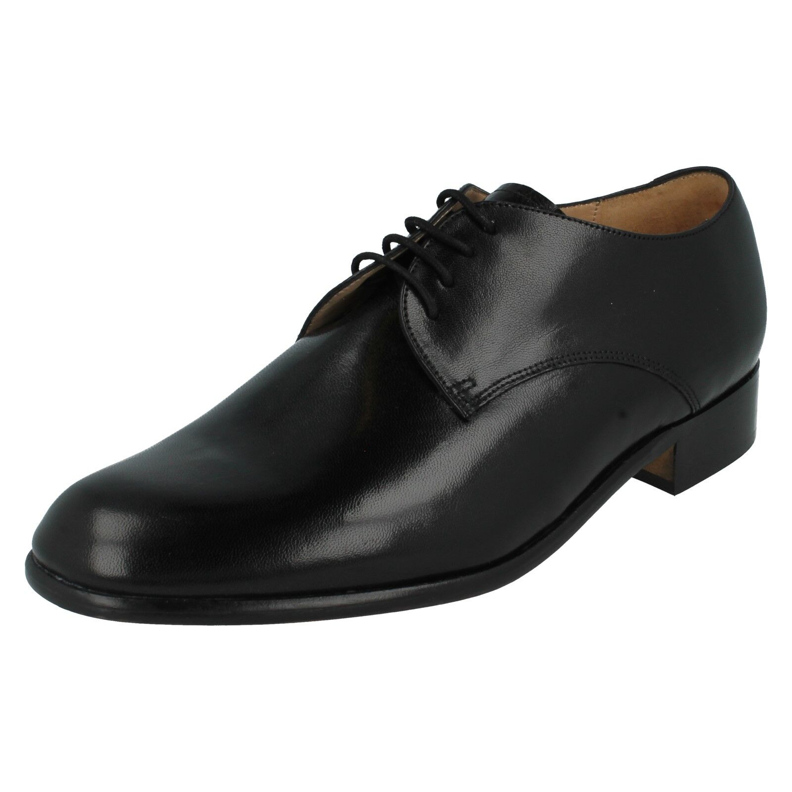 Herren BLACK LEATHER UP LACE UP LEATHER FORMAL WORK Schuhe SIZE 7  8 GRENSON TEMPLEMEADS 5862ef