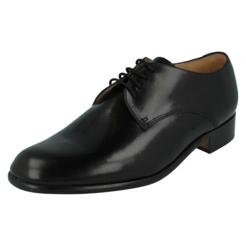 MENS BLACK LEATHER LACE UP FORMAL WORK SHOES SIZE 7 /& 8 GRENSON TEMPLEMEADS