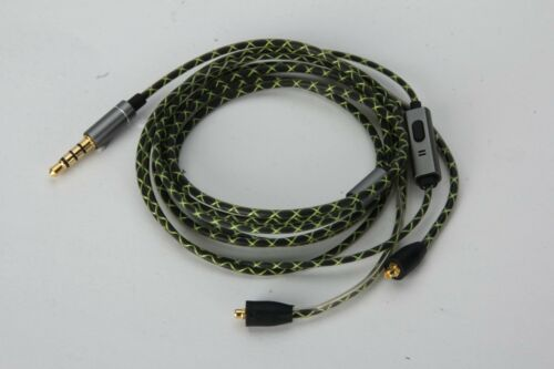Green Audio Cable with mic For FiiO F5 F9 F9SE F9Pro headphones