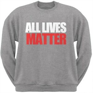 Lives Grey Heather Sweatshirt Neck Crew All Adult Matter q8ZZO6