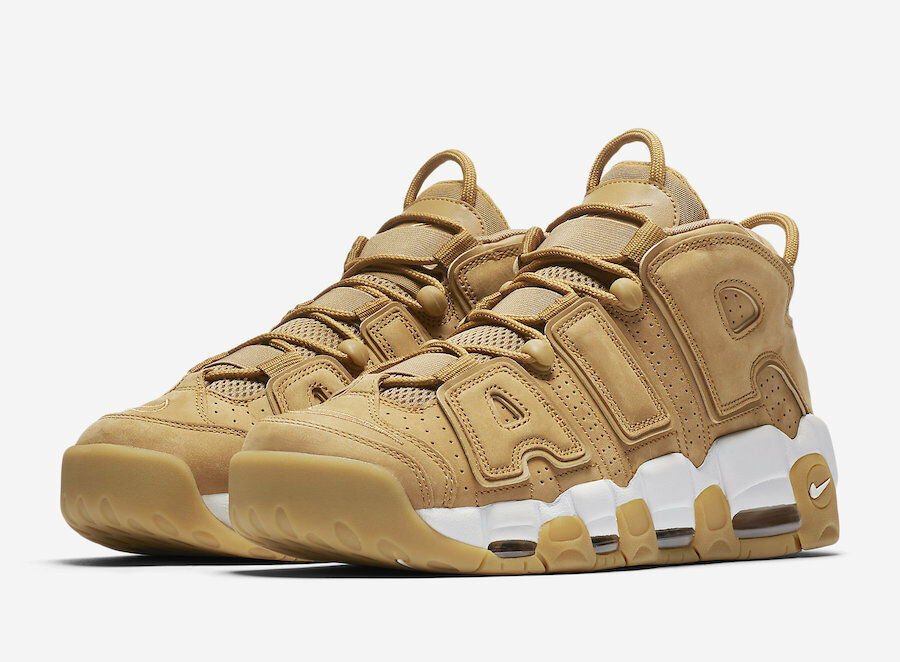 Nike MEN'S Air More Uptempo '96 Premium WHEAT FLAX SIZE 9.5 BRAND NEW