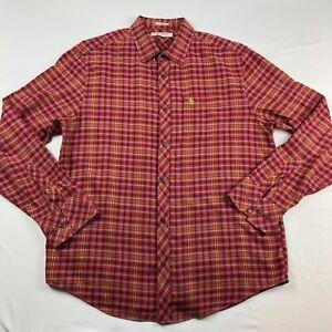 Penguin-Munsingwear-Mens-Classic-Fit-Plaid-Shirt-Button-Up-Size-L