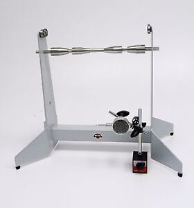 Motorcycle Wheel Static Balancer Truing Stand-  With Dial Indicator kit WHITE