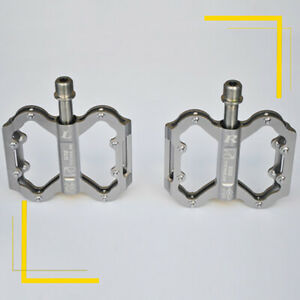 TICOOL Titanium Pedals for Bike Bicycle 4X Bearings Gr5 Ti6Al4v Titanium Spindle