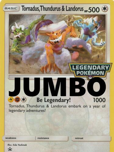 Thundurus /& Landorus Legendary Jumbo//Oversized CARD NM Pokemon Tornadus