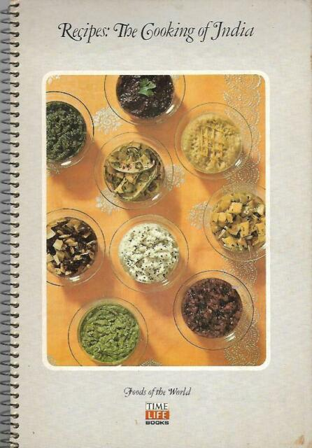Time Life Books Foods of the World Recipes: The Cooking of India 1975 Spiral