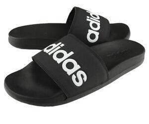 Detalles acerca de Adidas Adilette comodidad Diapositivas Para hombre  Sandalias Negro Blanco B42207- mostrar título original